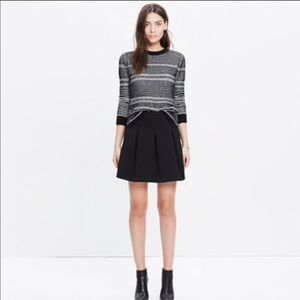 NWT Madewell Black pleated skirt